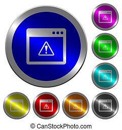 Application warning luminous coin-like round color buttons
