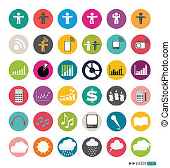 Application Web Icons Set. Vector illustration.