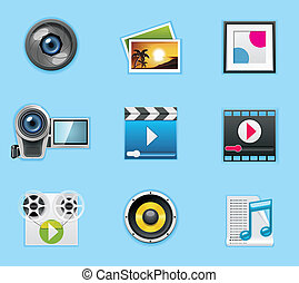 Applications and services icons - Typical smartphone icons ...
