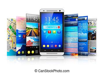 applications, concept, mobilité