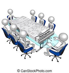 applications, prêt, réunion