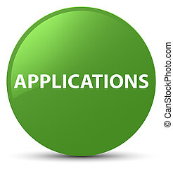 Applications soft green round button