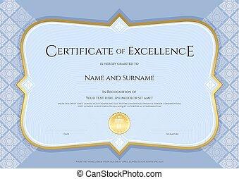 applicato, blu, vettore, arte, certificato, sfondo colore, sagoma, tailandese, realizzazione