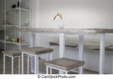 Applied furniture set of concrete panel
