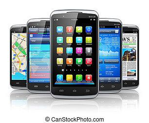 applikationer, smartphones