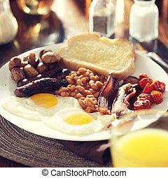 appliqué, style, entiers, instagram, image, filtre, petit déjeuner anglais