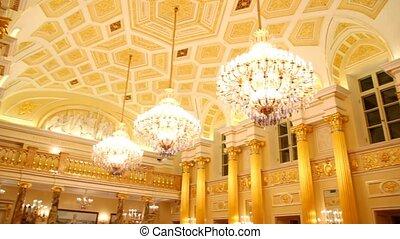 appliqué, utilisé, palais, musée, grandiose, russe, halls, ...