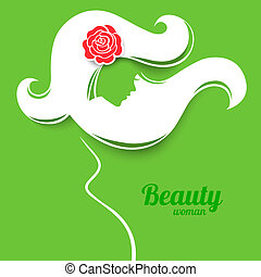 Applique background with pregnant woman silhouette