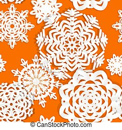 applique, seamless, snowflake