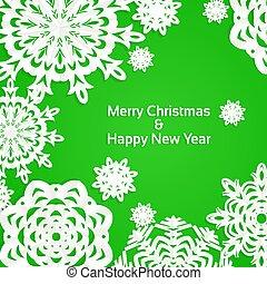 Applique snowflake Christmas green