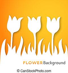 applique, vector, flor, ilustración, fondo.