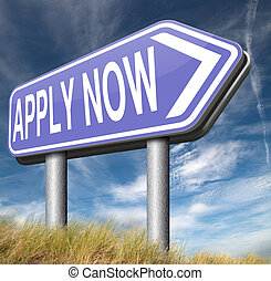apply here and now
