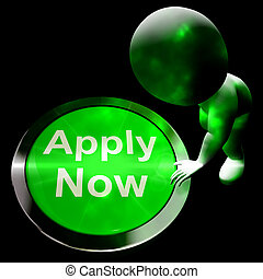 Apply Now Button For Work 3d Rendering