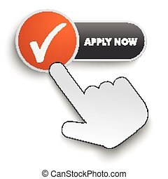 Apply Now Button Hand Cursor