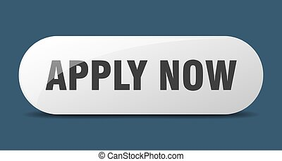 apply now button. rounded glass sign. sticker. banner