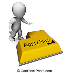 Apply Now Key Means Job Vacancy And Recruitment - Apply Now...