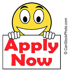 Apply Now On Sign Shows Job Applications And Recruitment