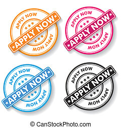 Apply Now Papper labels