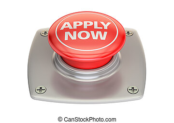 Apply Now Red button, 3D rendering