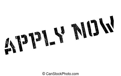 Apply Now rubber stamp