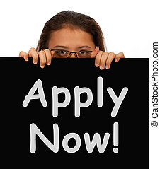 Apply Now Sign For Work Application - Apply Now Sign And...