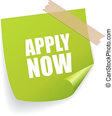 Apply now square note paper