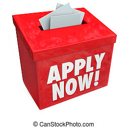 Apply Now for a job, loan or other important thing you desire by inserting your application in this red submission box