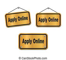 apply online - bronze signs