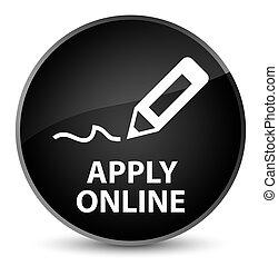 Apply online (edit pen icon) elegant black round button