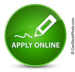 Apply online (edit pen icon) elegant green round button