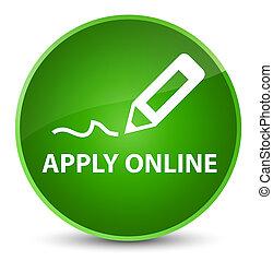 Apply online (edit pen icon) elegant green round button