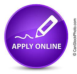 Apply online (edit pen icon) elegant purple round button