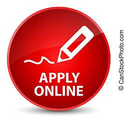 Apply online (edit pen icon) elegant red round button