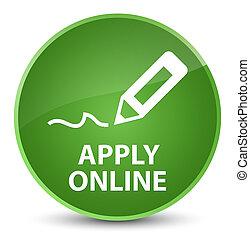 Apply online (edit pen icon) elegant soft green round button