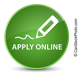 Apply online (edit pen icon) elegant soft green round button