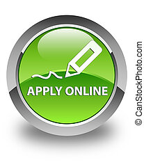 Apply online (edit pen icon) glossy green round button
