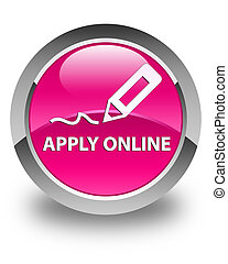 Apply online (edit pen icon) glossy pink round button
