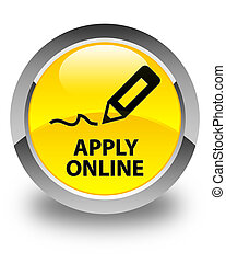 Apply online (edit pen icon) glossy yellow round button
