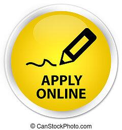 Apply online (edit pen icon) premium yellow round button