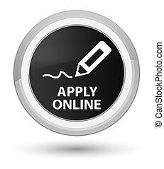 Apply online (edit pen icon) prime black round button