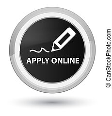 Apply online (edit pen icon) prime black round button