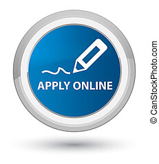 Apply online (edit pen icon) prime blue round button