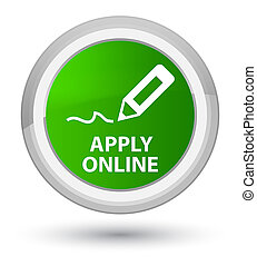 Apply online (edit pen icon) prime green round button