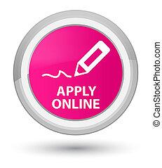 Apply online (edit pen icon) prime pink round button