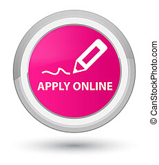 Apply online (edit pen icon) prime pink round button