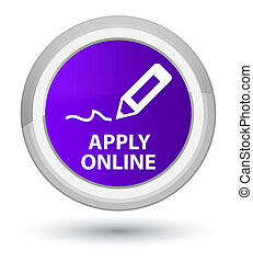 Apply online (edit pen icon) prime purple round button