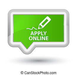 Apply online (edit pen icon) prime soft green banner button