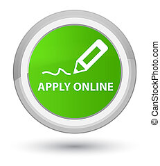 Apply online (edit pen icon) prime soft green round button