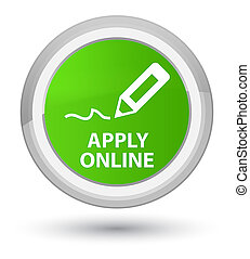 Apply online (edit pen icon) prime soft green round button