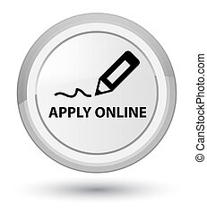 Apply online (edit pen icon) prime white round button